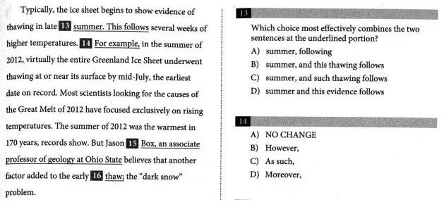 如何三步搞定新SAT文法句子合并题图1